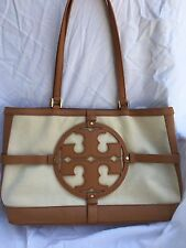 Tory Burch Tote Shoulder Purse Bag Brown Beige