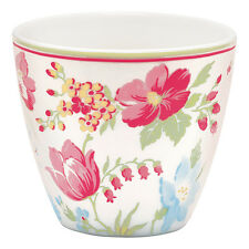 GreenGate Floral Latte Cup in Donna White