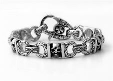 Ship from USA Rocker Biker Gothic SKULL 316L Stainless Steel Bracelet Chain