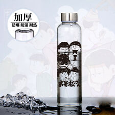 Anime Six Same Faces Mr.Osomatsu San Bottle High Borosilicate Glass Cos Gift MH