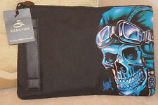 **NEW + TAG** Sanctum Blue Biker Skull Essential Travel Bag **CHRISTMAS**
