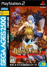 Used PS2 Sega AGES 2500 Series Vol. 18 Dragon Force   Japan Import、