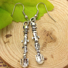Antique silver Doctor Who Sonic Screwdriver Earrings HANDMADE  #2