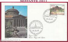 ITALIA FDC ROMA PIAZZA DELLA LIBERTà PALERMO 1987 ANNULLO TORINO Y86