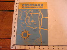 vintage Paper--1941 COLORADO MOUNTAIN PLAYGROUND booklet 48 PAGES