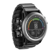 Garmin Fenix 3 Sapphire Multisport GPS Training Watch Gray Black Steel Band New