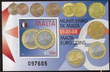 MALTA MNH 2008 MS1584 ADOPTION OF THE EURO MINISHEET