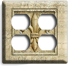 ROYAL FLEUR DE LIS ELECTRICAL QUADRO OUTLET WALL PLATE COVER OLD MEDICI EMBLEM