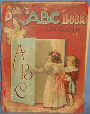 ANTIQUE 'BABY'S ABC BOOK' on Cloth PUB. by FREDERICK WARNE and CO. FULL COLOR