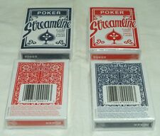 2-Decks Of Streamline~Playing Cards~Red & Blue~Buy-2-Get-3rd-FREE~WHAT~A~DEAL!