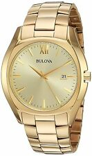 Bulova Men's 97B146 Gold Dial Gold-Tone Stainless Steel Bracelet Watch