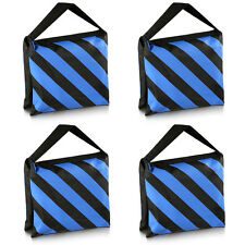 Neewer 4x Black/Blue Heavy Duty Sand Bag Studio Stage Film Sandbag f Tripods