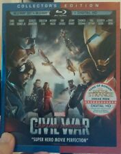 Captain America: Civil War (3D+Blu-ray Disc, 2016)NEW - Next day Free Shipping