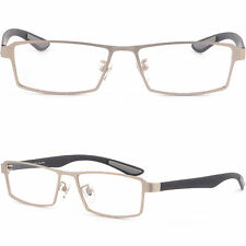 Light Silver Men Titanium Frame Prescription Eye Glasses Photochromic Sunglasses