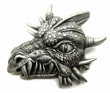 3D Snarling Dragon Belt Buckle Monster Fantasy Mythical Great American Products