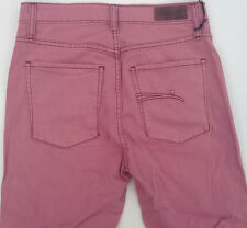 NEW - RRP $269 - Womens Stunning Nobody 'CULT CROP HIGH RISE SKINNY' Pink Jeans