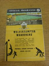 13/04/1963 Wolverhampton Wanderers v Burnley  (team changes).  When listing we t
