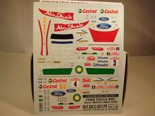 DECALS 1/43 FORD FOCUS WRC  #3 ou #4 MONTE CARLO 2008 - COLORADO  43179
