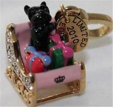 NWT 2010 Juicy Couture LTD ED Crystal YORKIE SLEIGH 2010 CHARM GOLD Animal Dog