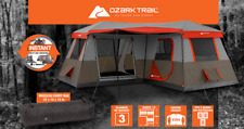 BRAND NEW Family Camping Ozark Trail 12 Person 3 Room L-Shaped Instant Tent