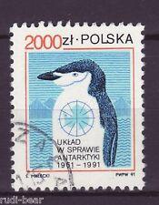 Polen Nr. 3336  gest.  Antarktisvertrag    -1