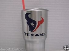 Houston Texans Decal Sticker Yeti, Rambler,Tumbler,Car,Truck,Window,Blue & Red