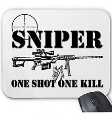 SNIPER ONE SHOT ONE KILL - MOUSE MAT/PAD AMAZING DESIGN