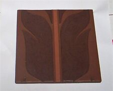 Van Briggle Tile  200?  Brown Leaves