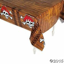 PIRATE Tablecloth Table Cover Skull birthday party Decorations