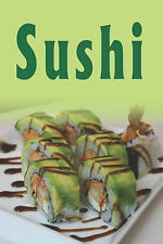"SUSHI 12""x18"" STORE DELI RETAIL SEAFOOD COUNTER SIGN"