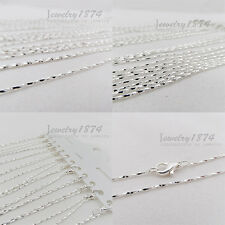12Pcs Wholesale New Clasp FINE PLATING SILVER CHAIN NECKLACE Sp1