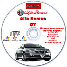 Alfa Romeo GT eLearn – Multilingual Factory Repair Manual CD