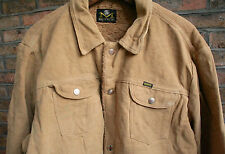 VTG 70s MAVERICK BLUE BELL BRUSHED COTTON PILE LINED WESTERN POPPER JACKET 44