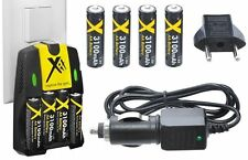 4AA Battery + 110-240 Volt & Car Charger + European Adapter for GE A1455
