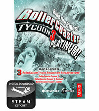 ROLLERCOASTER TYCOON 3 PLATINUM PC AND MAC STEAM KEY