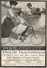 1904 Ad Pope Bicycle Edwardian Mother & Daughter Out For a Springtime Bike Ride