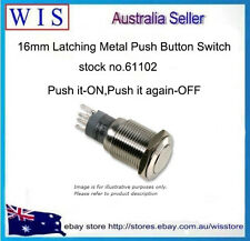 Push Button Switch,Power Button Switch 16mm,S/S,LATCHING,Double Pole-61102