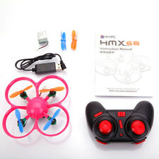 HMX68 (A) 2.4G 4CH 6-Axis Gyro Mini Drone RC Quadcopter Mode 2 RTF Flight Pink