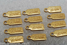 Mattel 1998 Barbie Metal Tag Brass Charm STamped Lot of 12
