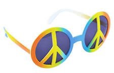Rainbow Peace Sign Hippy Glasses Sunglasses Retro Hippie Fancy Dress
