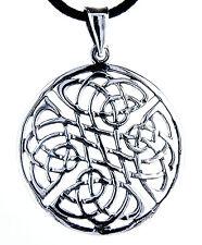 Keltischer Knoten Anhänger 925 Silber mit Band / Kette keltisch Keltenknoten