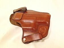 Handmade Brown Leather Gun Holster Springfield XD IWB Inside Waist Made in USA