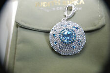 "New Judith Ripka Sterling Silver Gemstone Topaz Enhancer on 36"" Heart Chain"