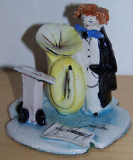 Zampiva Tuba Playing Musician Figurine. Signed By Artist.