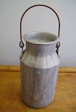 "Vintage retro 50s/60s industrial aluminium Blow milk churn 9 1/2"" storage jar"