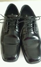 Men's Claiborne Monza Black Oxford Lace Up Dress Shoe, Size 9 Medium