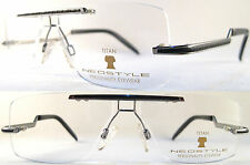 RARE & STYLISH NEOSTYLE ULTRALIGHT MENS FRAME, PURE TITANIUM, RIMLESS, SILVER