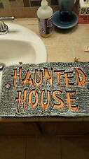 animated Haunted House Led Light Sign R