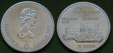MONETA COIN MONNAIE CANADA 10 DOLLARS 1973 XXI OLYMPIAD MONTREAL 1976 ARGENTO #2