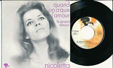 "NICOLETTA 45 TOURS 7"" FRANCE QUAND ON A QUE L'AMOUR (DE JACQUES BREL)"